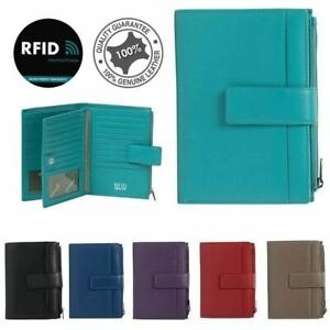 Full Grain Genuine Leather RFID Protected 37 Card Holder Women Wallet New Colour