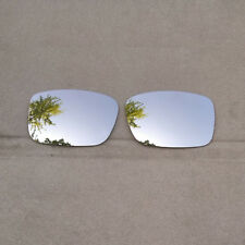 Silver Mirrored Replacement Lenses for-Oakley Crankcase Sunglasses Polarized