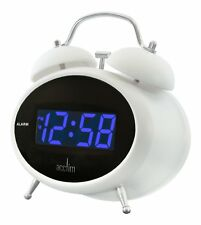 Acctim Dexter Blue LED Mains Electric Bold Bedside Alarm Clock 14782(our ref350D