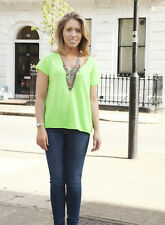 360 CASHMERE SELLIE NEON GREEN SWEATER XS