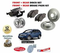 FOR DODGE JOURNEY 2.0DT 2.4 2008-> FRONT + REAR BRAKE DISCS SET + DISC PADS KIT