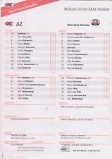 Opstellingen / Line-ups AZ Alkmaar v Heracles Almelo 03-03-2012