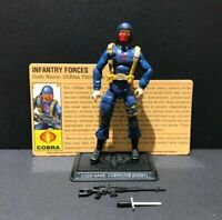 G.I. Joe 25th Cobra The Enemy Infantry Trooper V6 Figure Complete