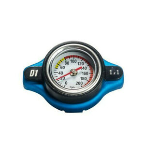 Alloy Car Thermostatic Gauge Radiator Cap 1.1 Bar Small Head Water Temp Meter