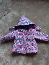 Girls floral fleece lined ski jacket age 3