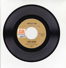"""Herb ALPERT & The TIJUANA BRASS Vinyl 45T 7"""" WITHOUT HER - SANDBOX -AM 1065 RARE"""