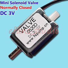 DC 3V Small Micro 0520D Electric Solenoid Valve N/C Normally Closed for Gas Air