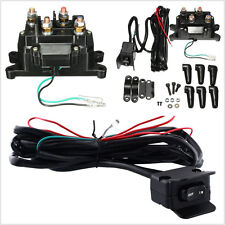 DC12V 200A ATV UTV Solenoid Relay Contactor + Winch Rocker Thumb Switch Tool Kit