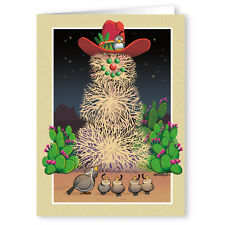 Tumbleweed Snowman Western Theme Christmas Card - 18 Cards 19 Envelopes - 40006