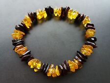 Stretch multicolor Baltic Amber Bracelet ~10 g.