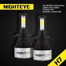 Nighteye Car 72W 9000LM KIT H7 6500K White LED Conversion Headlight Bulb Globes