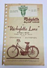 1952 MOBYLETTE MOTORIZED BICYCLE BROCHURE-NEAR MINT