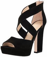 9e31156639e Jessica Simpson Tehya Platform Black Lux Kid Suede Sandals Size 10 M