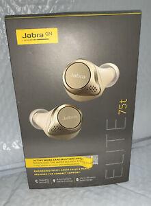 Jabra Elite 75t In-Ear Only Headphones - Gold Beige NEW