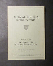 ACTA ALBERTINA RATISBONENSIA Festband Ekkehard Preuss  1991 Regensburg