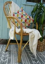 Boho Bamboo Mid Century Tiki Wicker Vintage Retro 70s 1970s Chair Scandi