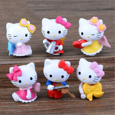 6PC Cute Hello Kitty Figures Toy Collection Bow Angel Violin Cake Decoration