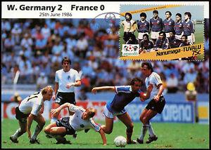 Football Maxicard 1986, West Germany V France, Handstamped #C26426