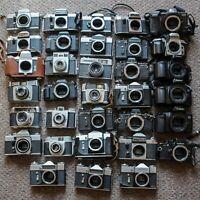 JOB LOT 33 x Vintage SLR Film Cameras - Canon, Praktica, Nikon, Zenit, Fujifilm