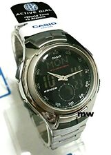 Casio Analog Digital Man's Alarm Sports Quartz World Time Watch AQ-160WD-1 Light