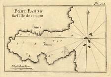 More details for port paros sur l'isle de ce nom. paros, cyclades. greece. roux 1804 old map