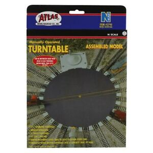 Atlas 2790 N Scale Manually Operated Turntable, 21 Postions, Can Be Motorized
