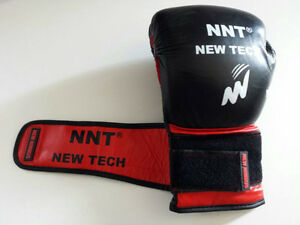 NNT REAL COW HIDE LEATHER BOXING GLOVES WITH GEL PADDING