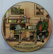 ROYAL Doulton D5911 DR. JOHNSON AT THE CHESHIRE CHEESE Charger Plate @ 13-3/8""