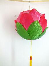 JAPANESE L PINK LOTUS FLOWER LANTERN CHINESE GARDEN WEDDING BIRTHDAY PARTY A1