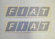 New FIAT Logo Badge Decal Sticker Pair Rally Racing X1/9 124 128 131 500 850