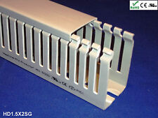 """18 New 1.5""""x2""""x2m Narrow Finger Open Slot Wire Cable Raceway Duct Cover,PVC,Gray"""