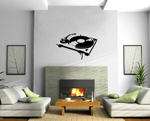 Stencil Turntable House Music DJ Wall Decor Mural Vinyl Decal Art Sticker M560