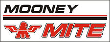 A123 Mooney Mite Airplane banner hangar garage decor Aircraft signs