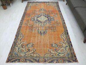 Turkish Carpet 5.3.x9.8 Old Antique Rug Oushak Vintage Bohemian Colorful Tribal