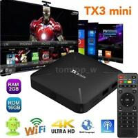Android 7.1 TV BOX TX3 mini 4K S905W Quad Core WiFi DLNA Media 2GB+16GB H.265