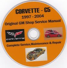 Corvette C-5 1997 -2004 Original GM SHOP - SERVICE - REPAIR - MAINTENANCE MANUAL