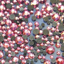 Assortment strass LIGHT PINK glass hotfix s06 + s10 + s16 + s20 n°(124)