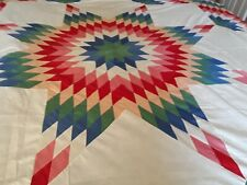 """LONE STAR Vintage King Quilt TOP Large 96 x 96"""" COLORFUL"""