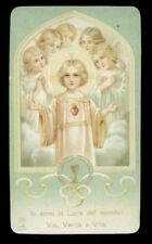 antico santino cromo-holy card ediz.AR n.446 IO SONO LA LUCE DEL MONDO