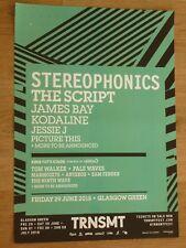 Stereophonics + The Script, Kodaline Glasgow june 2018 TRNSMT concert gig poster