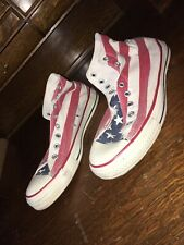 MADE IN USA! Vintage Converse Chuck Taylor American Flag Print  9.5 Us Real Deal