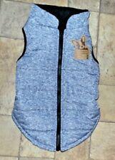 New listing Pup Crew Dog Fleece Lined Jacket Coat Vest, Size Xl, Heather Gray & Black Fleece