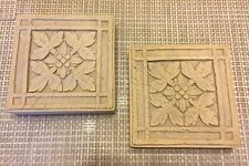 Pair Of Vintage Chalkware Floral Wall Plaques