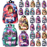 Roblox Backpack Kids School Bag Students Boys Girls Bookbag Travelbag 25 Styles