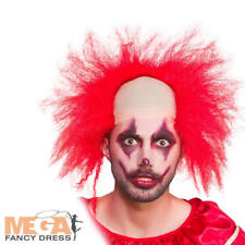 Sinister Clown Wig Mens Fancy Dress Circus Halloween Adults Costume Accessory