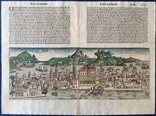 Doppelseitige Stadtansicht VENEDIG Schedel Weltchronik 1493, koloriert City view
