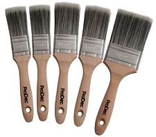 ProDec 5 Piece Decorator Paint Brush Set Trade Quality Synthetic (PBPT039)