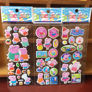 10 sheets Peppa Pig stickers party favours bag fillers