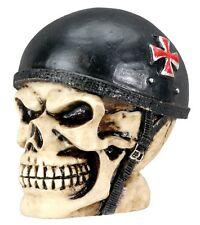 German Biker Iron Cross Skull Bust Figurine.Custom Shift Knob.Key. DIY