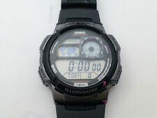 Casio AE-1000W WR 10BAR Chronograph Luminous Black Wristband Digital Watch